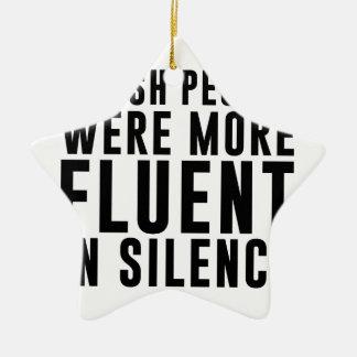 Ornamento De Cerâmica Fluente no silêncio
