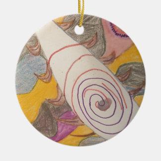 Ornamento De Cerâmica Flutuação no vácuo do arco-íris
