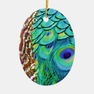 Ornamento De Cerâmica Fluxo calmo do Peafowl
