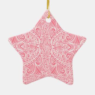 Ornamento De Cerâmica Fluxo elegante cor-de-rosa