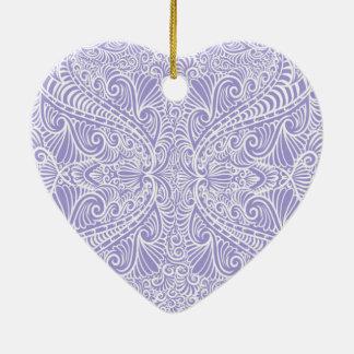 Ornamento De Cerâmica Fluxo elegante do Lilac