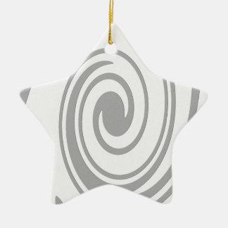 Ornamento De Cerâmica Fluxo espiral cinzento do teste padrão esquerda