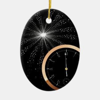 Ornamento De Cerâmica Fogo-de-artifício do ano novo