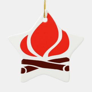 Ornamento De Cerâmica fogo quente na lareira
