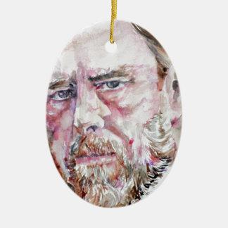 Ornamento De Cerâmica FOGUISTA de BRAM - retrato da aguarela