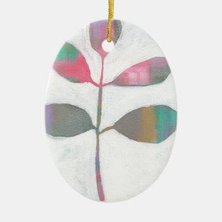 Ornamento De Cerâmica Folha abstrata