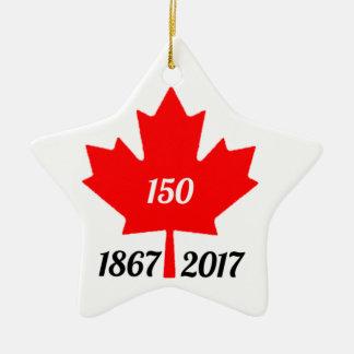 Ornamento De Cerâmica Folha de bordo de Canadá 150 em 2017