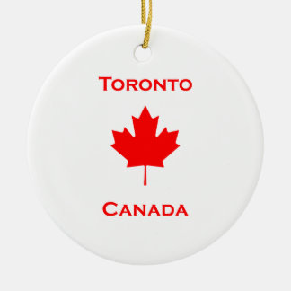 Ornamento De Cerâmica Folha de bordo de Toronto Canadá