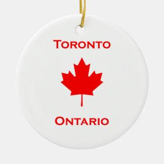 Ornamento De Cerâmica Folha de bordo de Toronto Ontário