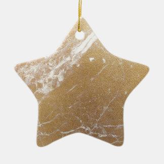 Ornamento De Cerâmica folha de mármore do ouro