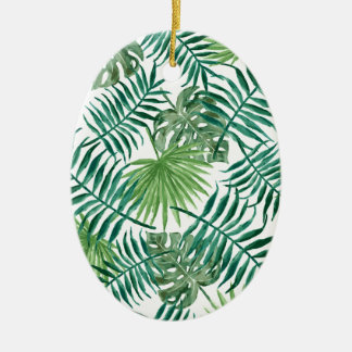 Ornamento De Cerâmica Folha de palmeira botânica tropical da planta