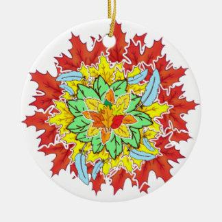 Ornamento De Cerâmica folha do outono