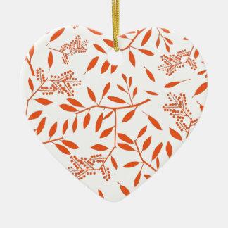 Ornamento De Cerâmica Folha ele a mim teste padrão alaranjado da folha