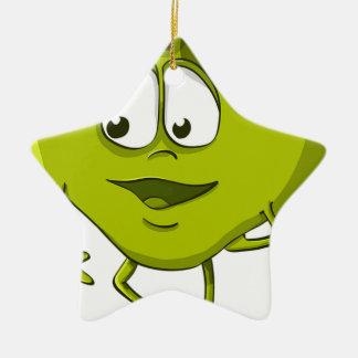 Ornamento De Cerâmica Folha engraçada do personagem de desenho animado