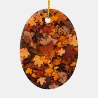 Ornamento De Cerâmica Folhagem de outono
