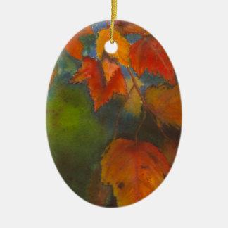Ornamento De Cerâmica Folhas de outono