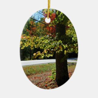 Ornamento De Cerâmica Folhas de outono em Maine