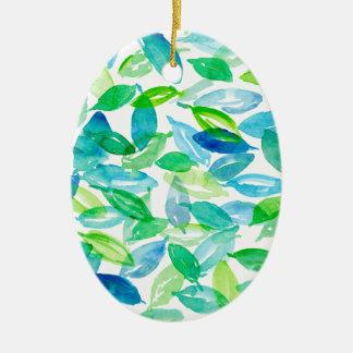 Ornamento De Cerâmica Folhas de queda