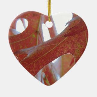 Ornamento De Cerâmica Folhas do carvalho do outono