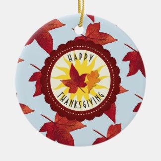 Ornamento De Cerâmica Folhas felizes do céu e da queda da acção de