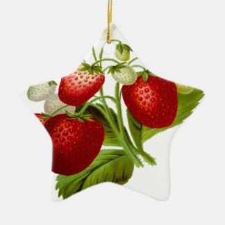 Ornamento De Cerâmica Folhas frondosas da folha da fruta da comida