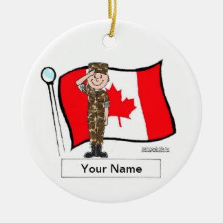Ornamento De Cerâmica Forças armadas canadenses - homem