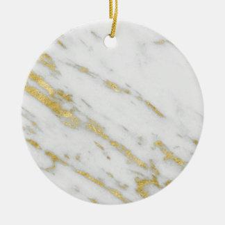 Ornamento De Cerâmica Forma cor-de-rosa do mármore do ouro