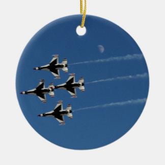 Ornamento De Cerâmica Formação de diamante dos Thunderbirds F-16