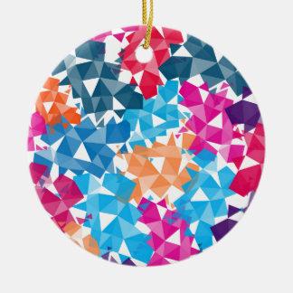Ornamento De Cerâmica Formas 3D geométricas coloridas