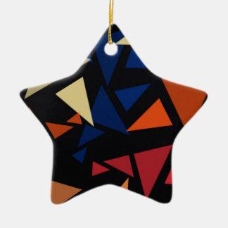 Ornamento De Cerâmica Formas geométricas coloridas