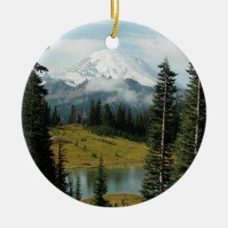 Ornamento De Cerâmica Foto da paisagem da montanha