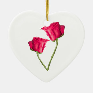 Ornamento De Cerâmica Foto das rosas vermelhas