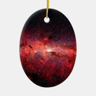 Ornamento De Cerâmica Foto do espaço da galáxia da Via Láctea