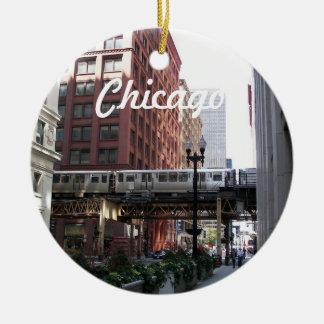 Ornamento De Cerâmica Foto do viagem de Chicago