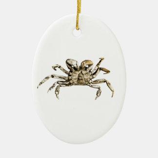 Ornamento De Cerâmica Foto escura do caranguejo