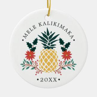 Ornamento De Cerâmica Foto havaiana do Natal de Mele Kalikimaka |
