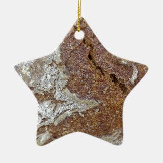 Ornamento De Cerâmica Foto macro da superfície do pão de mistura de Ger