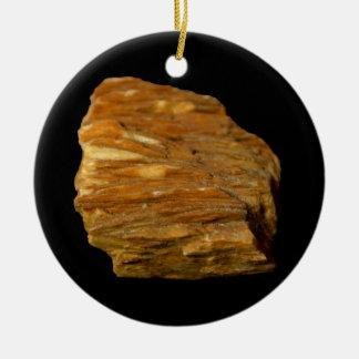 Ornamento De Cerâmica Foto mineral de barite com crista no preto
