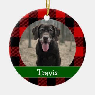 Ornamento De Cerâmica Foto personalizada do animal de estimação do cão