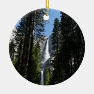 Ornamento De Cerâmica Fotografia da paisagem de Yosemite Falls e de