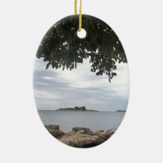 Ornamento De Cerâmica Fotografia do mar Mediterrâneo das férias de verão
