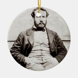 Ornamento De Cerâmica Fotografia do retrato de Jules Verne do vintage