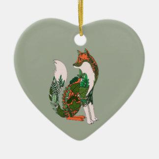 Ornamento De Cerâmica Fox