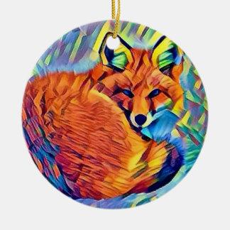 Ornamento De Cerâmica Fox acima ondulado
