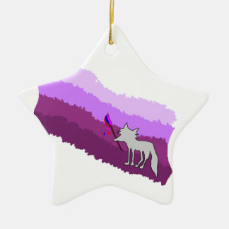 Ornamento De Cerâmica Fox das cores