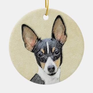 Ornamento De Cerâmica Fox Terrier (brinquedo)