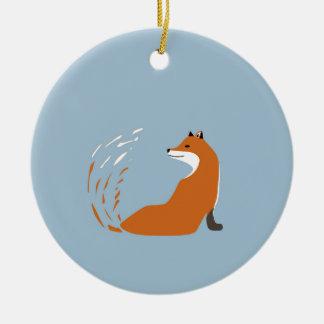 Ornamento De Cerâmica Foxy toma a pose