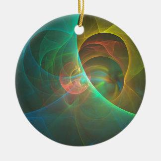 Ornamento De Cerâmica Fractal abstrato colorido