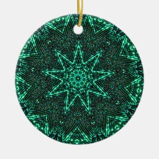Ornamento De Cerâmica Fractal brilhante da estrela