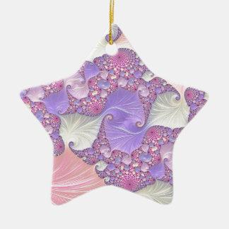 Ornamento De Cerâmica Fractal brilhante dos Pastels